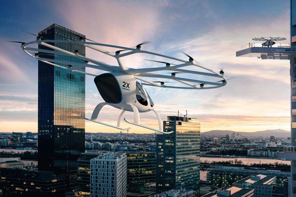 Volocopter 2X heißt das 160 Kilogramm leichte Fluggerät, an dessen Finanzierung unter anderen auch Daimler beteiligt ist. Foto: Volocopter